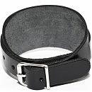 Черный кожаный браслет