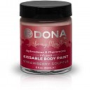 Краска для тела Dona Kissable Body Paint Strawberry Souffle