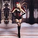 Эротический костюм темного ангела «Зажигательная Аманда», S/M