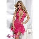 Платье бебидолл розоваый с вырезом , S/M