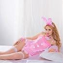 Эротический женский костюм «Розовая зайка», S/M