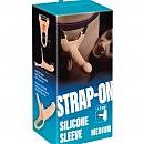 Мужской страпон Silicone Strap-on (насадка), 16 х 3,5 см