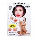 Надувная кукла «Angelina 3D» с вставкой из киберкожи, 156 см