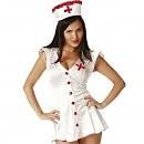 Ролевой костюм медсестры с красными пуговицами Le Frivole