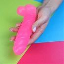 Розовый неоновый прозр с глитером(цветочный)