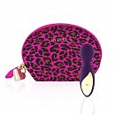 Мини вибромассажер Rianne S: Lovely Leopard Purple + косметичка-чехол
