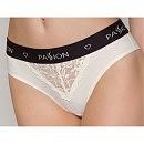 Трусики с широкой резинкой и кружевом Passion PS001 Panties ecru
