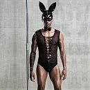 Эротический мужской костюм «Зайка Джонни» с маской, S/M