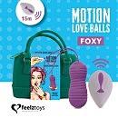 Вагинальные шарики с жемчужным массажем на пульте ДУ FeelzToys Motion Love Balls Foxy, 8,3 х 3,2 см