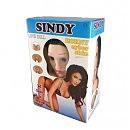 Надувная кукла «Sindy-3D» со вставкой из киберкожи и вибростимуляцией, 163 см