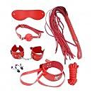 Набор MAI BDSM STARTER KIT Nº 75: плеть, кляп, наручники, маска, ошейник с поводком, веревка, зажимы