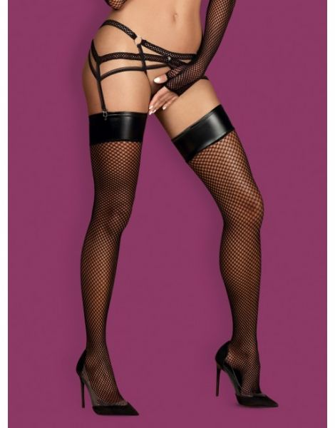 Чулки сетка Obsessive Darkie stockings black